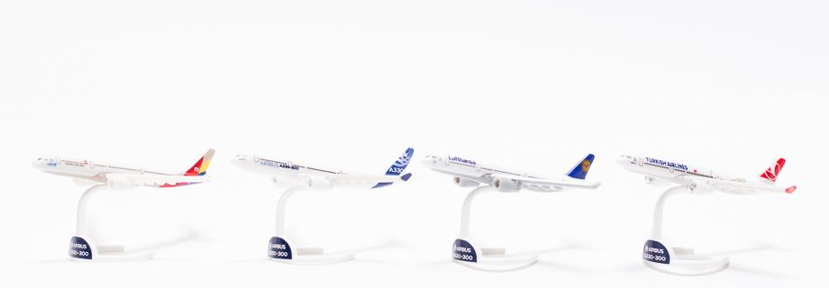 Neue Airbus A330-Modelle in Kinder-Überraschungseiern