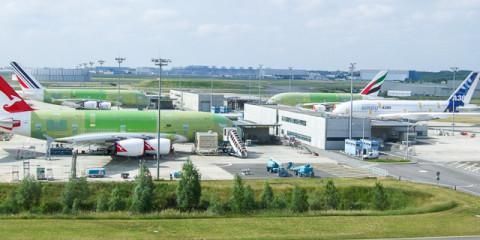 A380 Tour bei Airbus, Toulouse-Blagnac