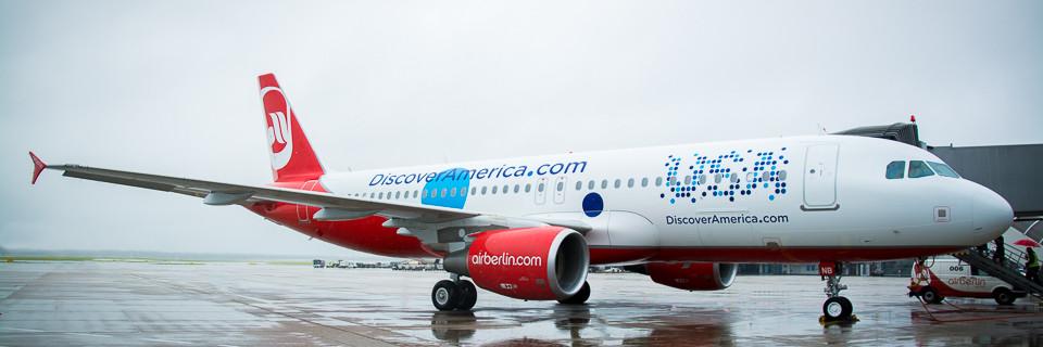 airberlin und Brand USA stellen neue A320 Livery vor